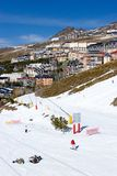 Town of Pradollano ski resort in Spain Stock Photos