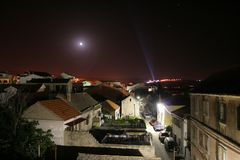 Town Primosten. Small town in Croatia at night Royalty Free Stock Photography
