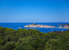 Town Primosten in Croatia Stock Photography
