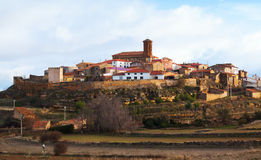 Town in province of Teruel. Pozuel del Campo Stock Images