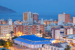 Town Puerto de Mazarron at dusk, Spain Stock Image