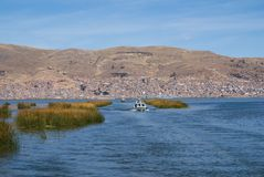 Town Puno, Peru. The city Puno lies on the shores of Lake Titicaca in Peru Royalty Free Stock Photos