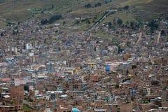 Town Puno, Peru Arkivfoton