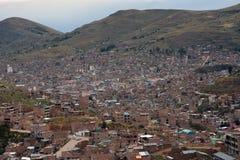 Town Puno, Peru Arkivfoto