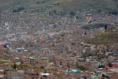Town Puno, Peru Royaltyfri Bild