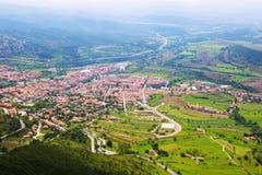 Town in Pyrenees. Berga Royalty Free Stock Image