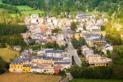 Town in  Pyrenees. Castejon de Sos Royalty Free Stock Image