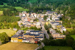 Town in Pyrenees. Castejon de Sos stock photography