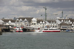 Town Quay passenger ferry departing Southampton UK Stock Image
