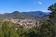 The town Quillan in France royalty free stock image