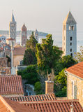 The town of Rab, Croatian tourist resort famous for its four bel Stock Photos
