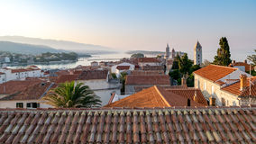 The town of Rab, Croatian tourist resort famous for its four bel Royalty Free Stock Photos