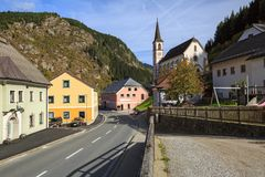 Town of Ramingstein, located within the Central Eastern Alps. Austria. Town of Ramingstein, located within the Central Eastern Alps in the district of Tamsweg in royalty free stock image