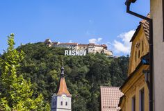 Town of Rasnov royalty free stock photos