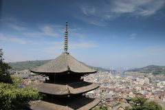 Town in the region of Chugoku.Onomichi. The town in the region of Chugoku.Onomichi royalty free stock photography