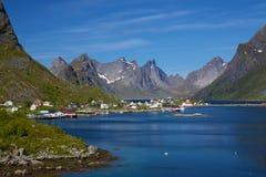 Town of Reine on Lofoten Stock Photo