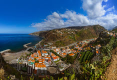 Town Ribeira Brava - Madeira Portugal Stock Photo