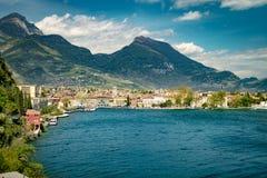 Town of Riva del Garda, Lake Garda, Italy. Stock Images