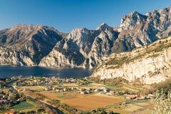 Town of Riva del Garda, Lake Garda, Italy. Royalty Free Stock Photo