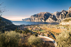 Town of Riva del Garda, Lake Garda, Italy. Royalty Free Stock Image