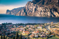Town of Riva del Garda, Lake Garda, Italy. Stock Image