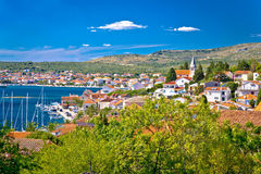 Town of Rogoznica waterfront view Royalty Free Stock Images