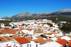 Town rooftops, Colmenar, Spain. Stock Images