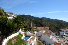 Town rooftops, Frigiliana, Spain. Royalty Free Stock Images