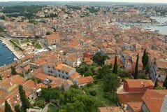 The town of Rovinj, Croatia. Overview of the town of Rovinj, Croatia Stock Photos