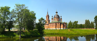 Town of Russia, Volgorechensk,  new cathedral Royalty Free Stock Images