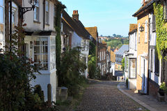 The town of Rye, England. Old town, old street, a journey through England, photo ample space Royalty Free Stock Images