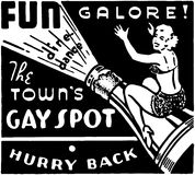 The Town's Gay Spot Royalty Free Stock Images