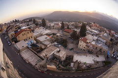 The town of Safed in northern Israel Stock Images
