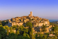 Town Saint Paul de Vence in Provence France Stock Images