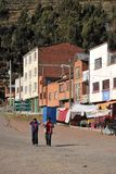 Town of San Pablo on lake Titicaca Royalty Free Stock Photography