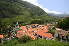 Town of Sao Vicente on Madeira Royalty Free Stock Photography