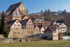 The town of Schwaebisch Hall, Germany Stock Images