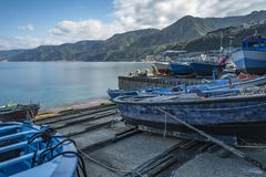 TOWN OF SCILLA, CALABRIA. TOWN OF SCILLA, PROVINCE OF REGGIO CALABRIA royalty free stock photography