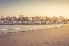 Town by the sea. Seaside living concept Royalty Free Stock Photo