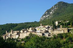 Town of Serra San Quirico Royalty Free Stock Photography