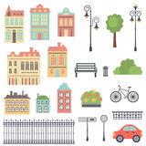 Town set Royalty Free Stock Photo