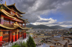 The town of shangri la,yunnan province Royalty Free Stock Photography