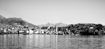 Town on the shores. Royalty Free Stock Images