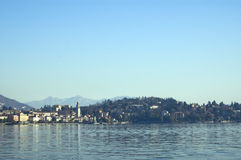 Town on the shores. Royalty Free Stock Photography