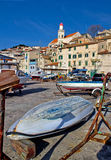 Town of sibenik old waterfront Royalty Free Stock Images
