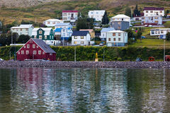 The town of Siglufjordur, the Northern part of Iceland Royalty Free Stock Image