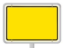 Town sign. German yellow town sign with copy space royalty free illustration