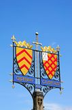 Town sign, Chipping Campden. Royalty Free Stock Image