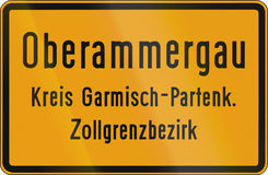 Town Sign Oberammergau Royalty Free Stock Photos