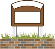 This town sign Vector Blank Royalty Free Stock Images